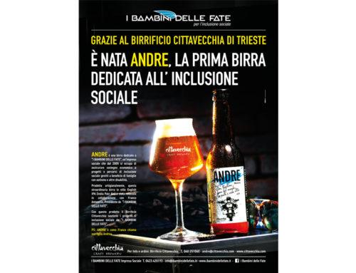 È nata ANDRE, la prima birra dedicata all'inclusione sociale
